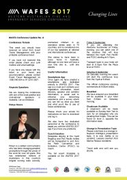 WAFES Newsletter 4 Thumbnail