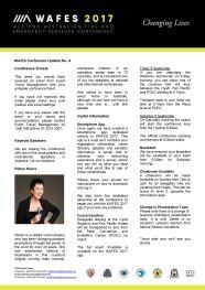 WAFES Newsletter 4 Thumbnail